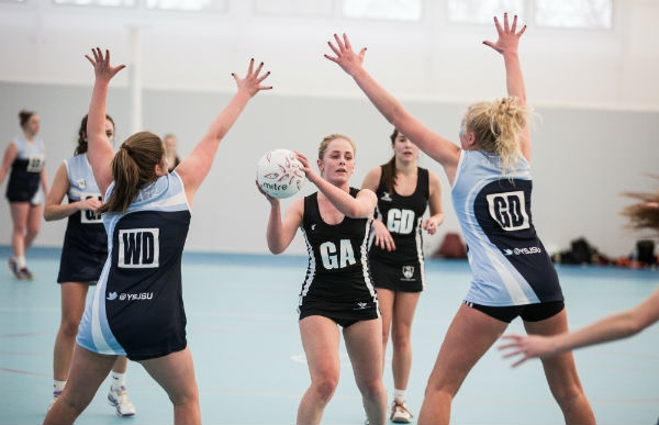 Students play netball